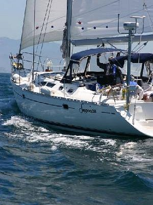 Sancerre sails close to the wind toward the Channel Islands
