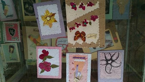 Some of the lovely journals decorated with botannicals
