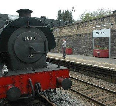 Locomotive 68013 at Matlock station platform 2