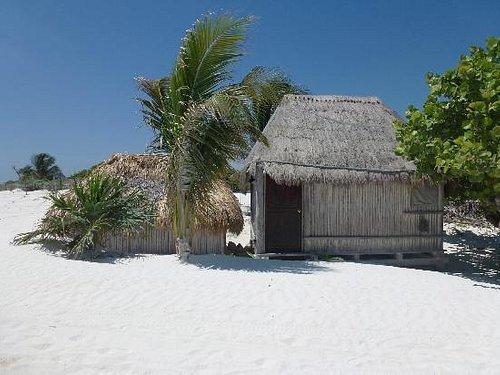 Typical Mayan hut along Tulum beach
