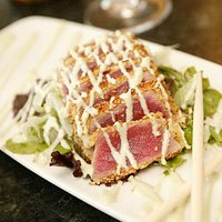Sesame Crusted Seared Ahi with Wasabi Aioli