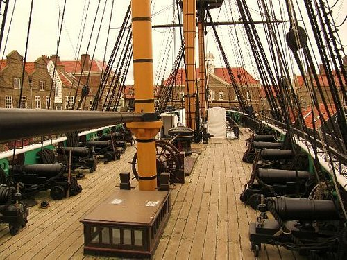 On deck of Trincomalee