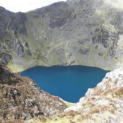 Llyn Cau from above.