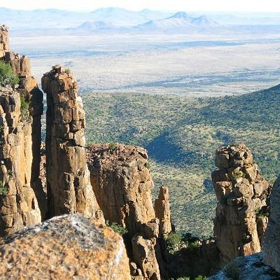 View from the top, with the Karoo laid out before you.