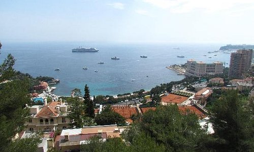 Monaco From the road to Italy