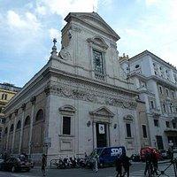 The church's lovely facade.