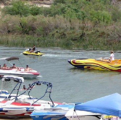 Boating at Moabi Regional Park