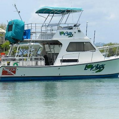The fully equipped dive boat