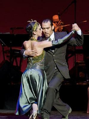 Cyrena Drusine, owner NTT, performing in Tango Pasion
