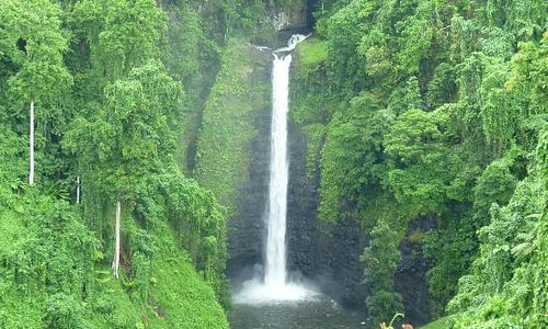 Close up of Sopoaga Falls