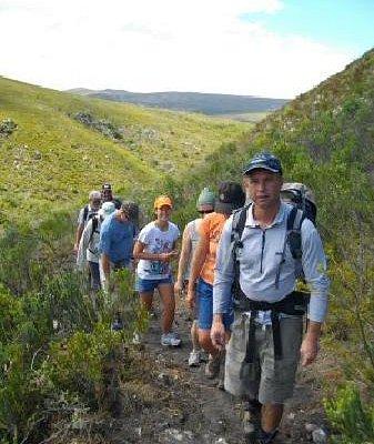 Group walking Fynbos Trail