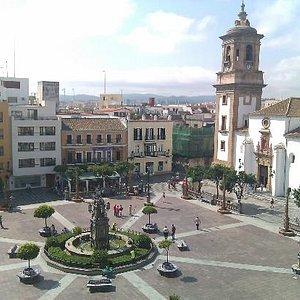 vista aerea de la plaza