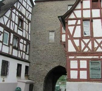 seen from inside the city walls