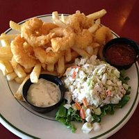 Fried shrimp and Slaw