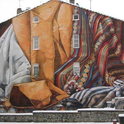 Impresionante Mural pintado por ciudadanos!
