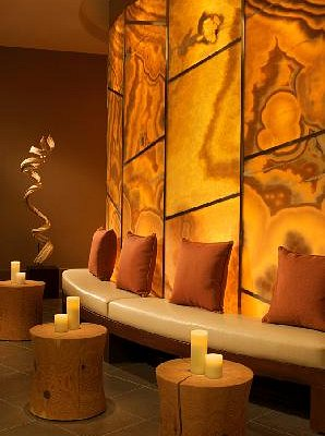 Relax and refresh in Canyon Ranch SpaClub's gorgeous lobby.