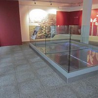 The glass exhibits