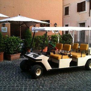 Deluxe golf cart in Rome