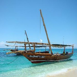 Two of our beautiful Safari Blue dhows