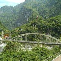 Bridge and Hilltop Temple at Tienhsiang