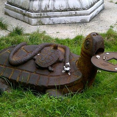 Turtle on front of the last temple