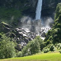 Foroglio Waterfall Val Bavona, Ticino