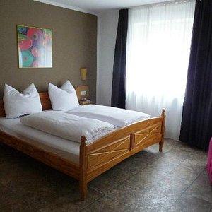 Bedroom facing quiet street