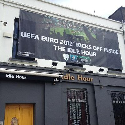 Euro 2012 Banner outside The Idle Hour
