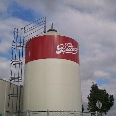 The recently added grain silo