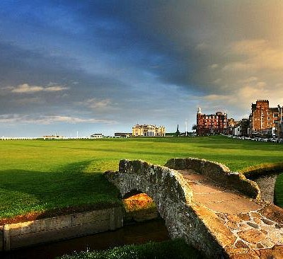 The Swilcan Bridge on the Old Course at St Andrews Links