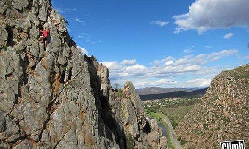 Visiting Climber at Bold and Beautiful Crag