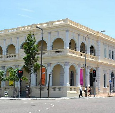 Perc Tucker Regional Gallery from across the street