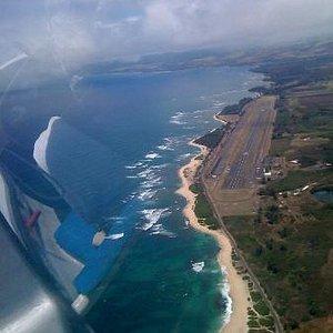 グライダー飛行からみたノースショアーの景観