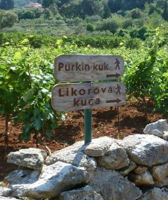 Sign post to look for on your way towards Dol to find Purkin Kuk trail