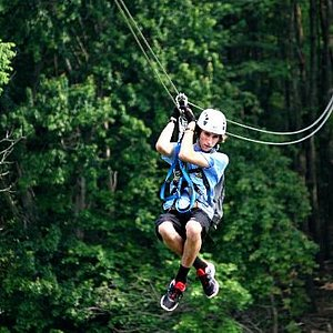Highly trained zipline guides