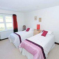 Twin room with ensuite facilities with views over the antrim hills