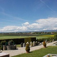 View from Audrey Hepburn's Grave in Tolochenaz, City of Morges