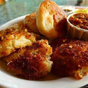 Salted Cod Fishcake Combination Plate