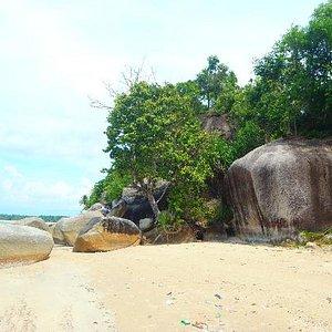 Huge coastal rocks