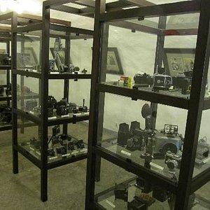 Tallin Photo museum, camera's on display