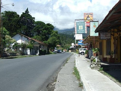 The street outside of Zanzibar Jazz Cafe