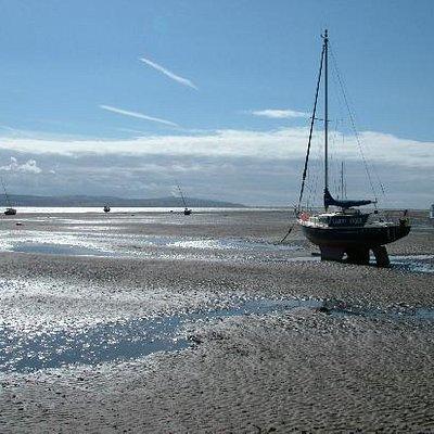 Boats on West Kirby Beach 2.