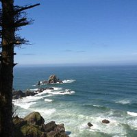 Tillamook Head lookout point on the trail.