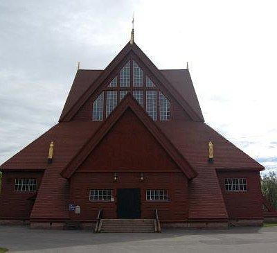 Church in Kiruna, exterior view