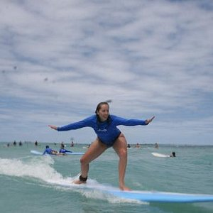 My first time surfing.