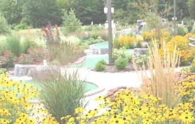 Thousands of plants line the mini golf course!