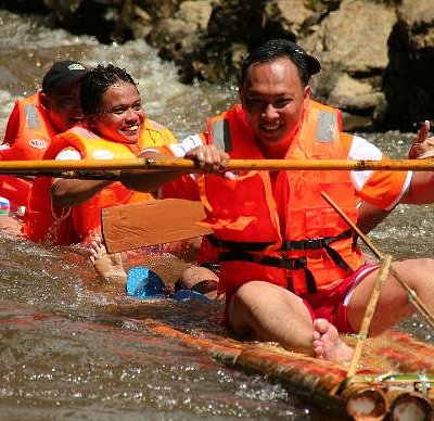 They had fun rafting with us.