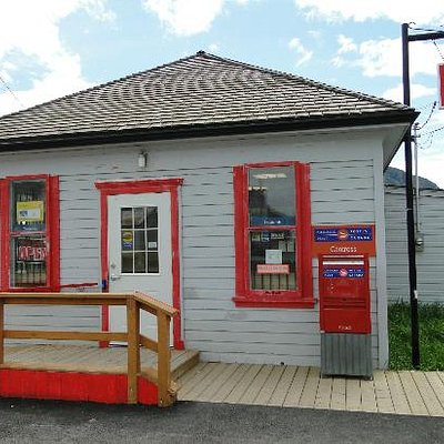 Red and Blue Historical Post Office