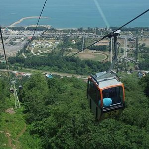 Green city( Ramsar cable car) view