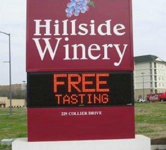 Free tasting at Hillside Winery